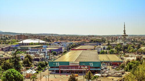 greece,thessaloniki,international exhibition center,international trade fair,helexpo,cityscape