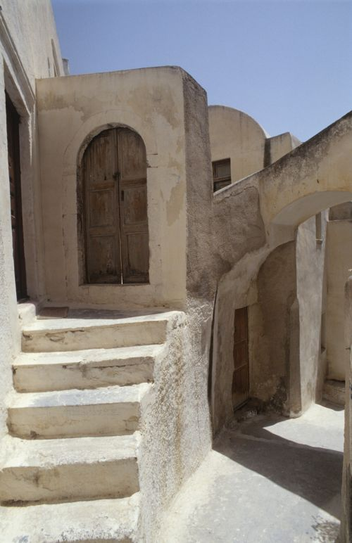 greece building stairs