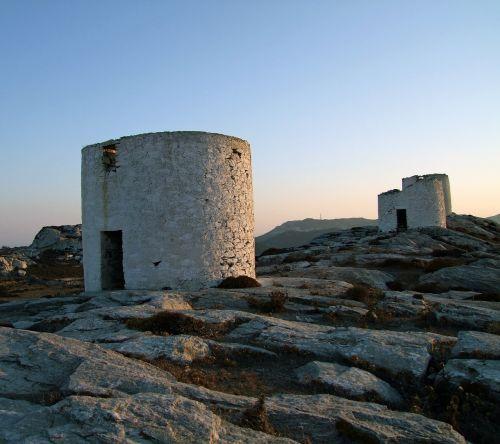 greece mills ruins