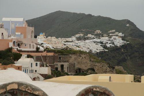 Greece Santorini Blue Roof Church