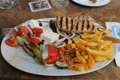 greek eat plate