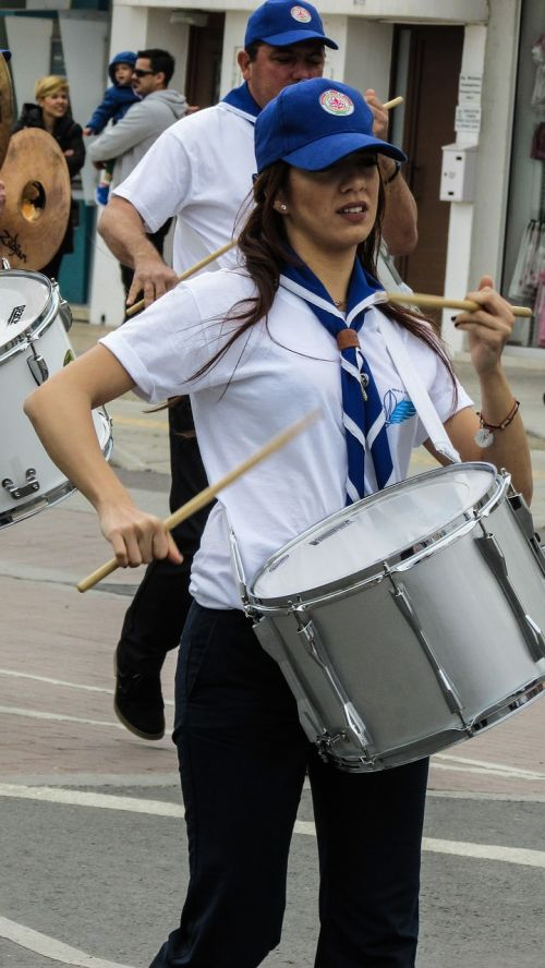 greek independence day parade girl