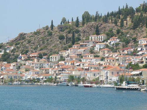 greek islands white houses greek island
