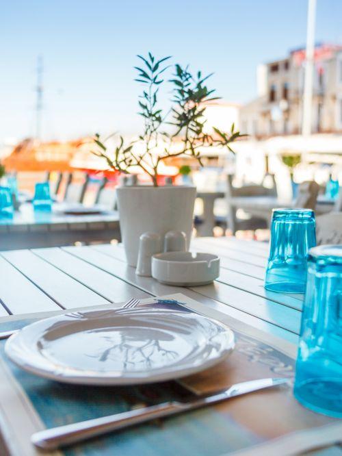 Greek Restaurant Table