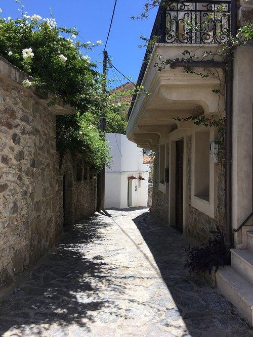 greek street  greece  crete