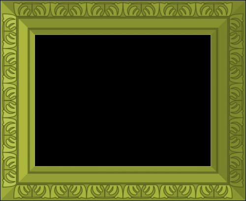 green frame ornate
