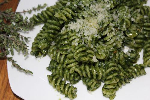 green pasta food