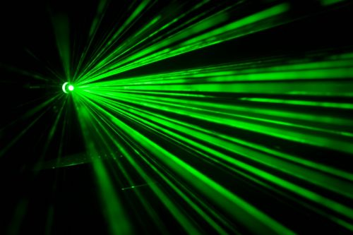 green laser light beam