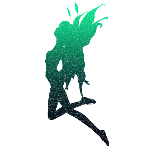 green glitter sparkle