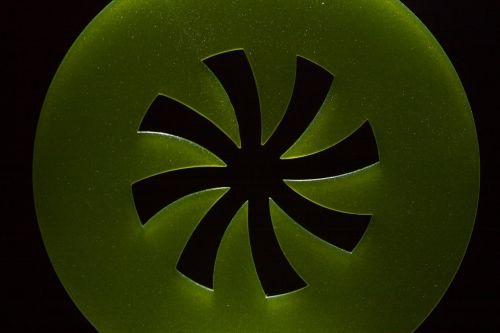 green abstract circle
