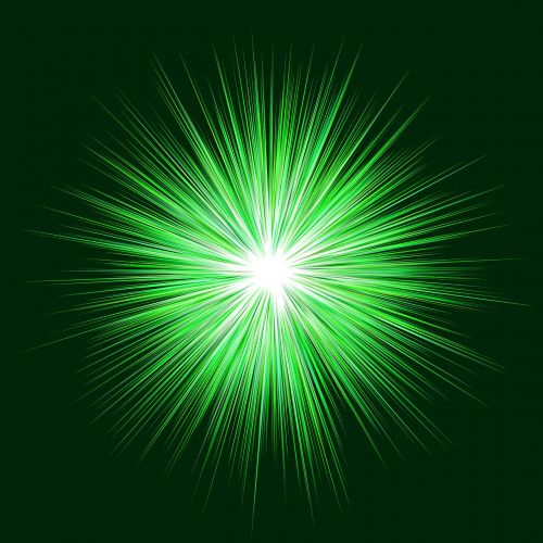 green blast background