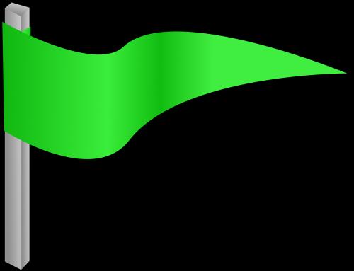green flag pennon