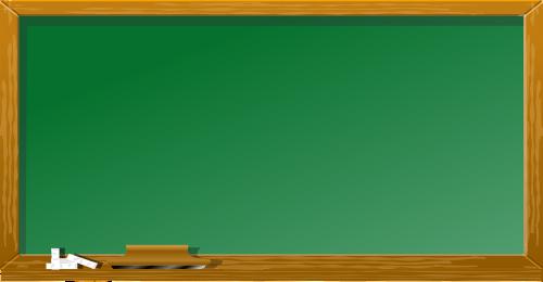 green blackboard chalk