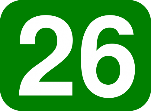 green white number