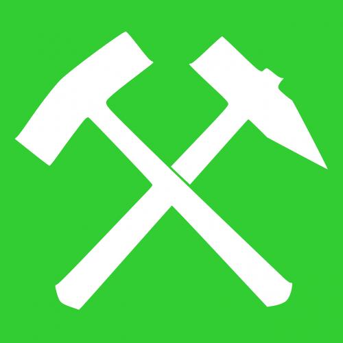 green white hammer