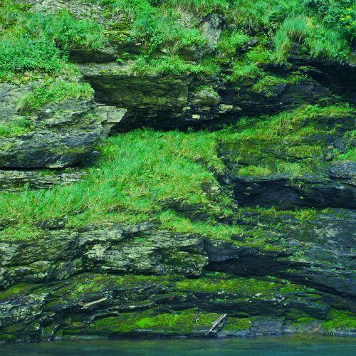 green rock stone