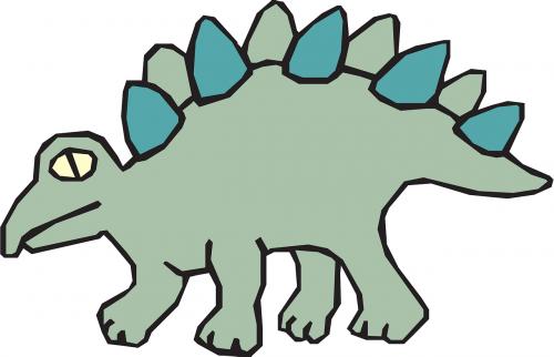 green dinosaur stegosaurus