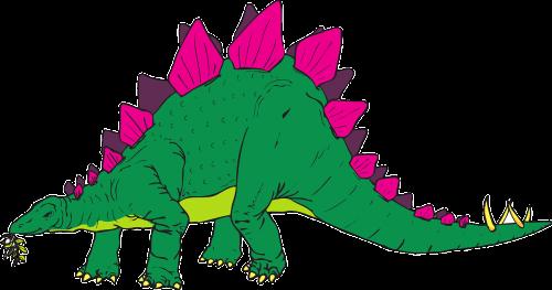 green pink dinosaur