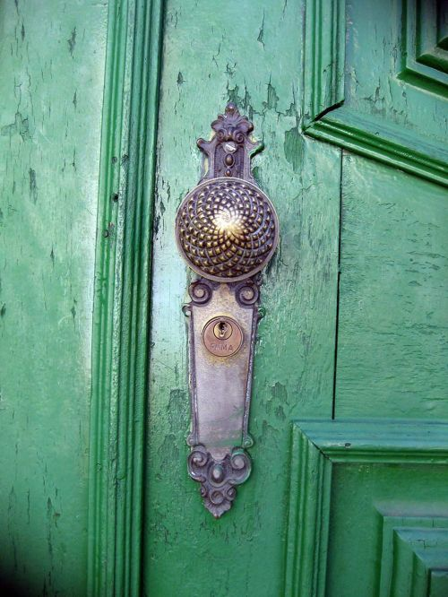 green door lock