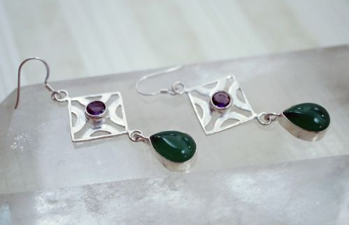 green agate purple
