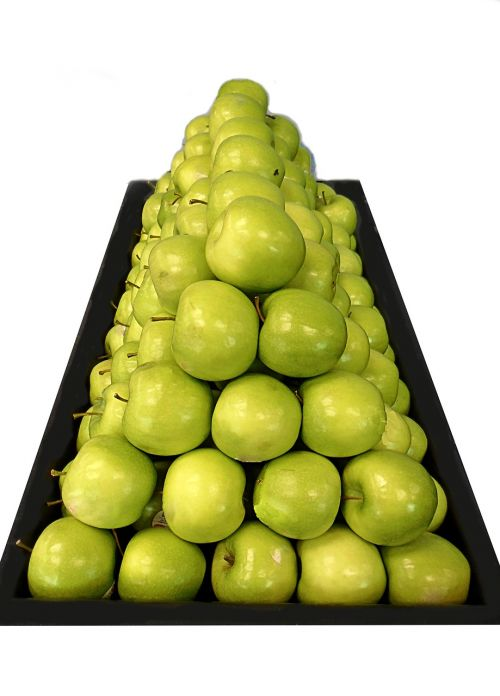 green apples triangle fruit