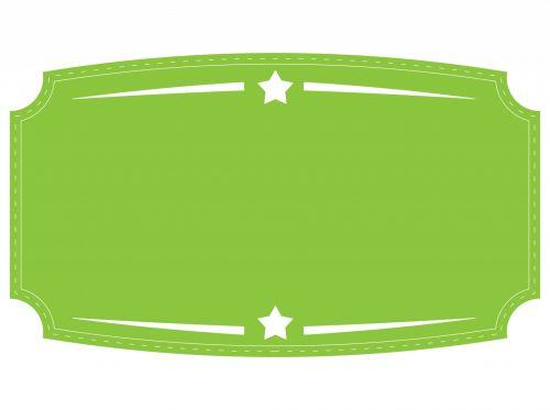 Green Badge, Label, Banner