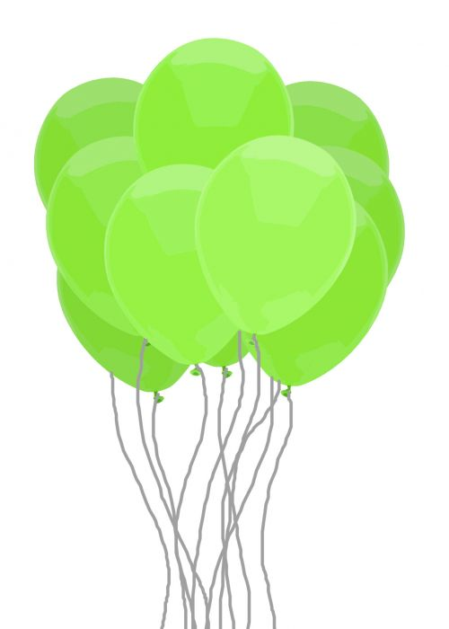 Green Balloon Bunch