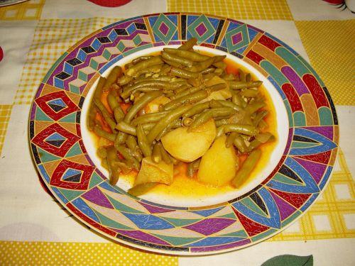 green beans boiled potatoes greek food