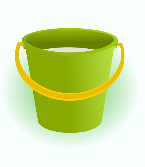 green bucket household bucket