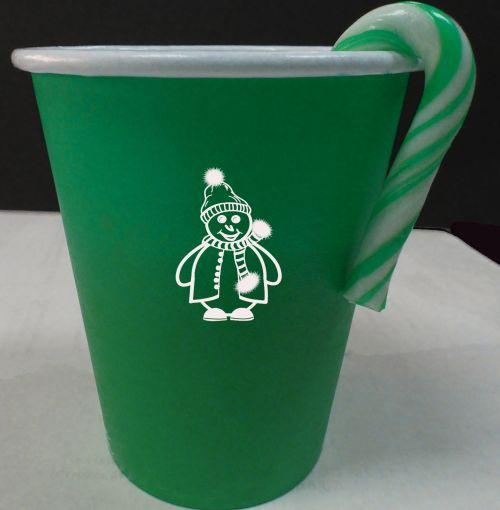 Green Christmas Cup