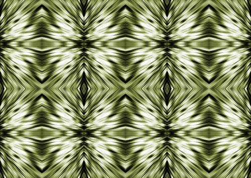 Green Diamond And Cross Pattern