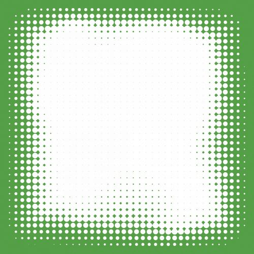 Green Dotted Frame