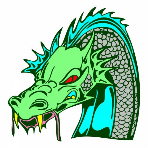 Green Dragon Head