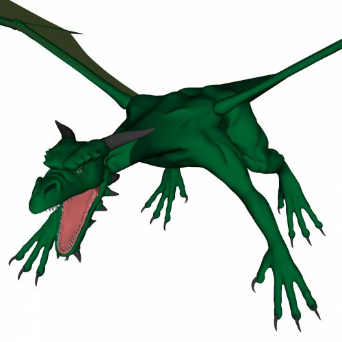 žalias, drakonas, uždaryti & nbsp, piešimas, 3d, žvėrys, legenda, gyvūnas, skraidantis, kinai, izoliuotas, tradicija, balta, fonas, asian, žalia drakonas v