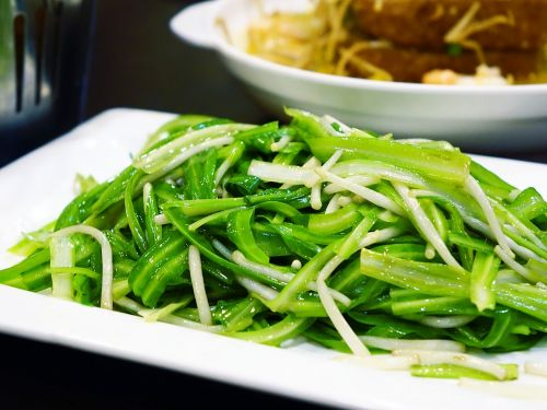 green dragon vegetable 青龙菜 bean sprouts