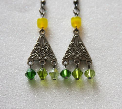 green earrings earrings jewel