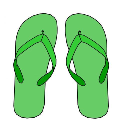 Green Flip Flops