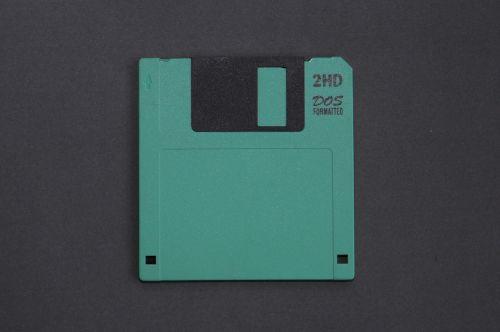 green floppy disk old technology storage