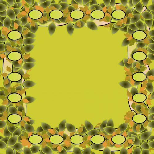 Green Flowery Frame