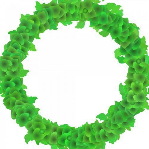 Green Garland Frame