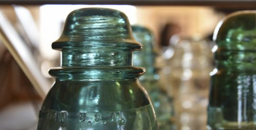 Green Glass Insulators