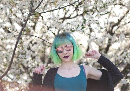 green hair  teal hair  turquoise hair