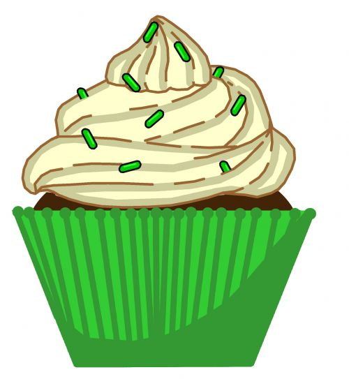 Green Mint Cupcake
