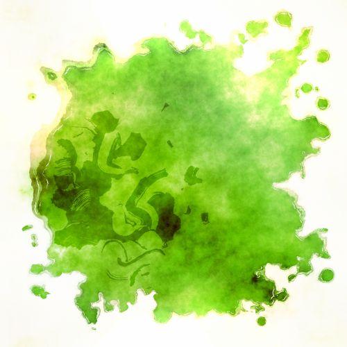 Green Paint Blot