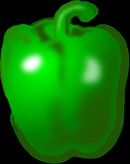 green pepper pepper green