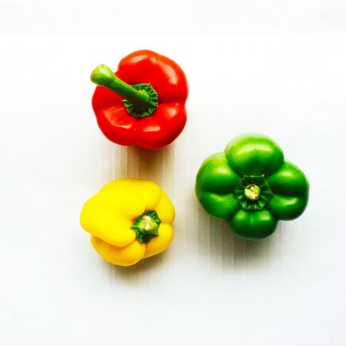 green pepper vegetables colorful