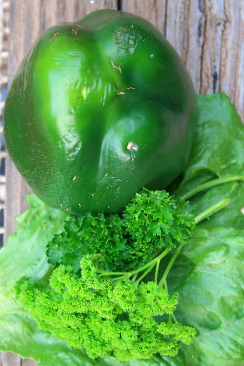 Green Pepper And Parsley