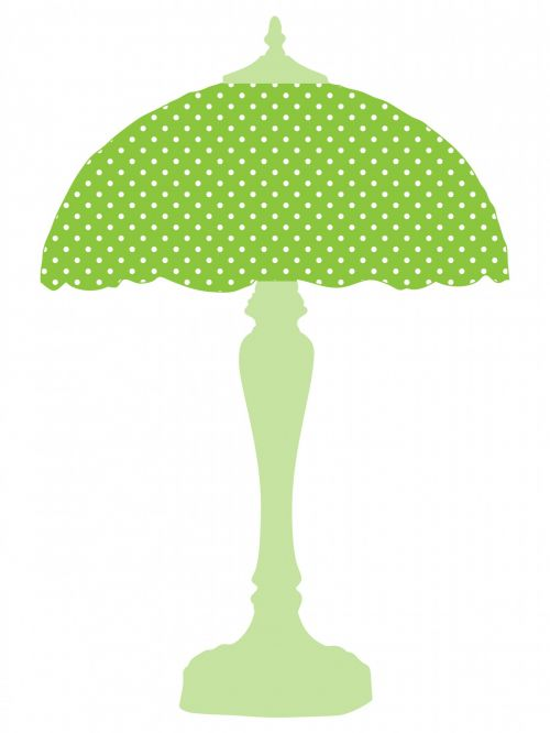 Green Polka Dots Lamp Shade