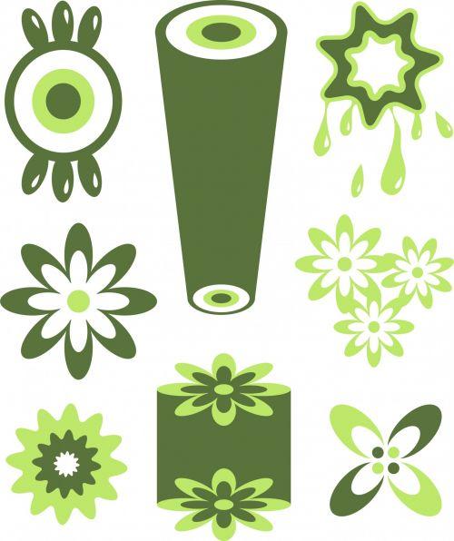 Green Retro Icons