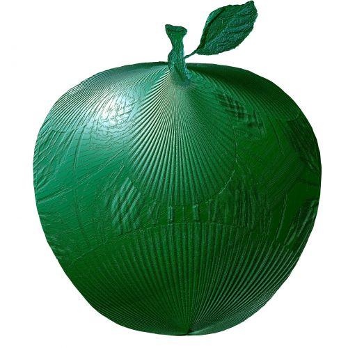 Green Textured Metallic Apple